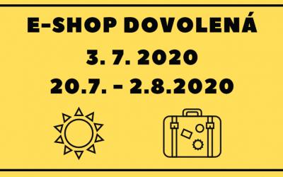 DOVOLENÁ E-SHOPU DERMITAGE